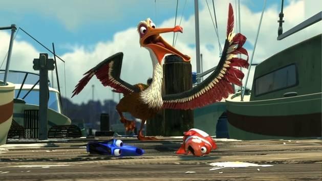 Findet Nemo 3D - Filmclip: Pelikan Niels rettet Dorie und Marlin
