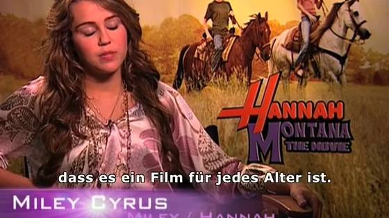 Hannah Montana - Der Film - Interview mit Miley