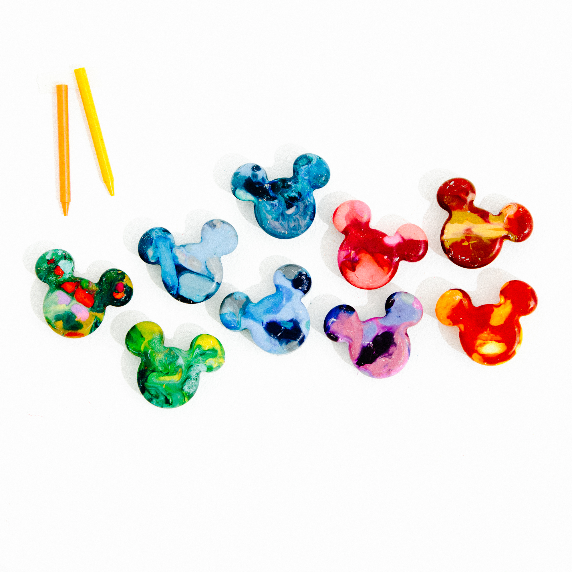 DIY Mickey Mouse Crayons