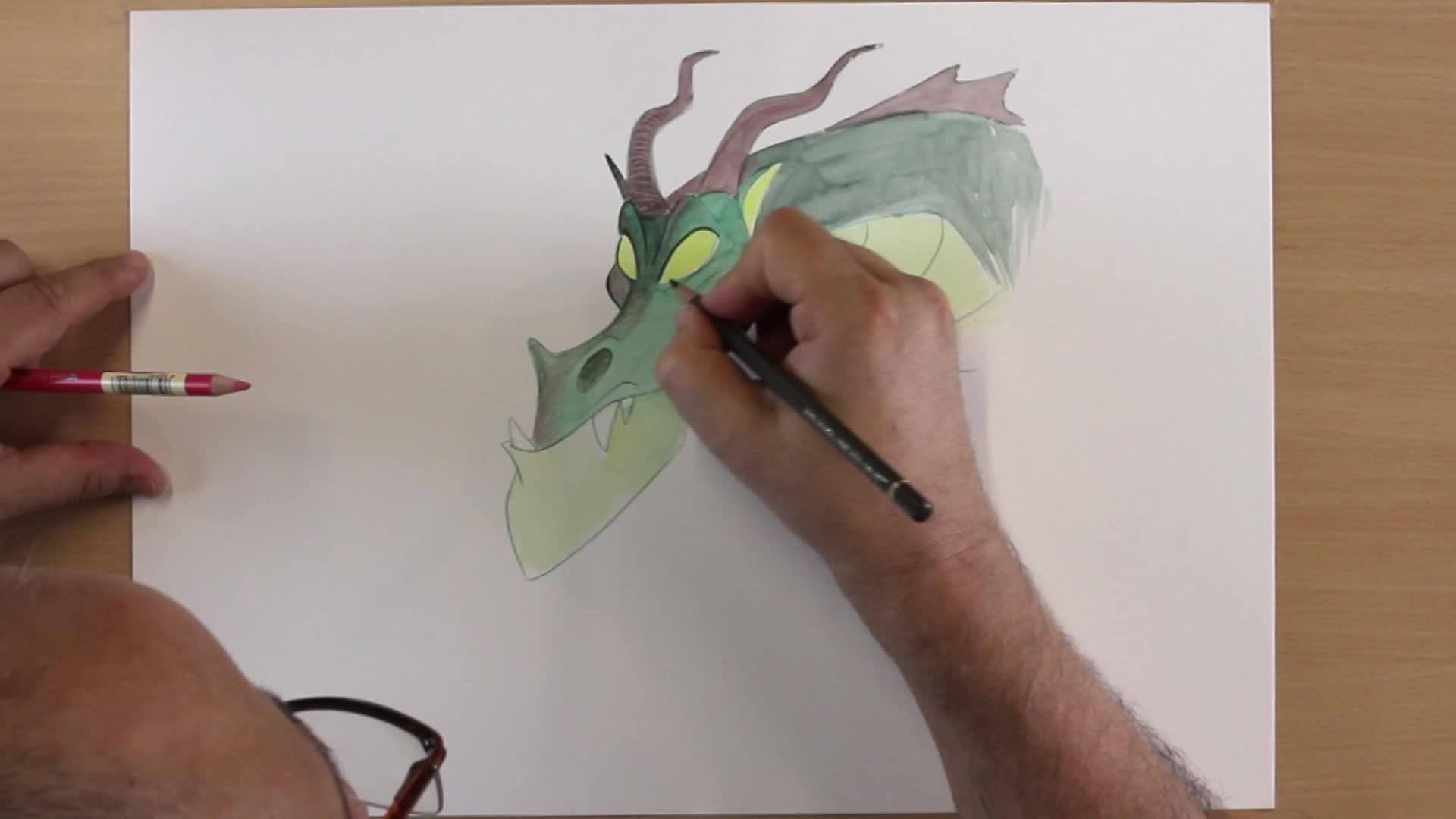 Comment dessiner un dragon en couleurs