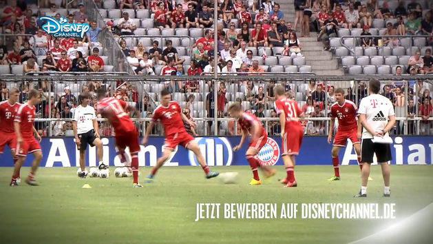 Werde Einlaufkind beim FC-Bayern München Großes Gewinnspiel im DISNEY CHANNEL