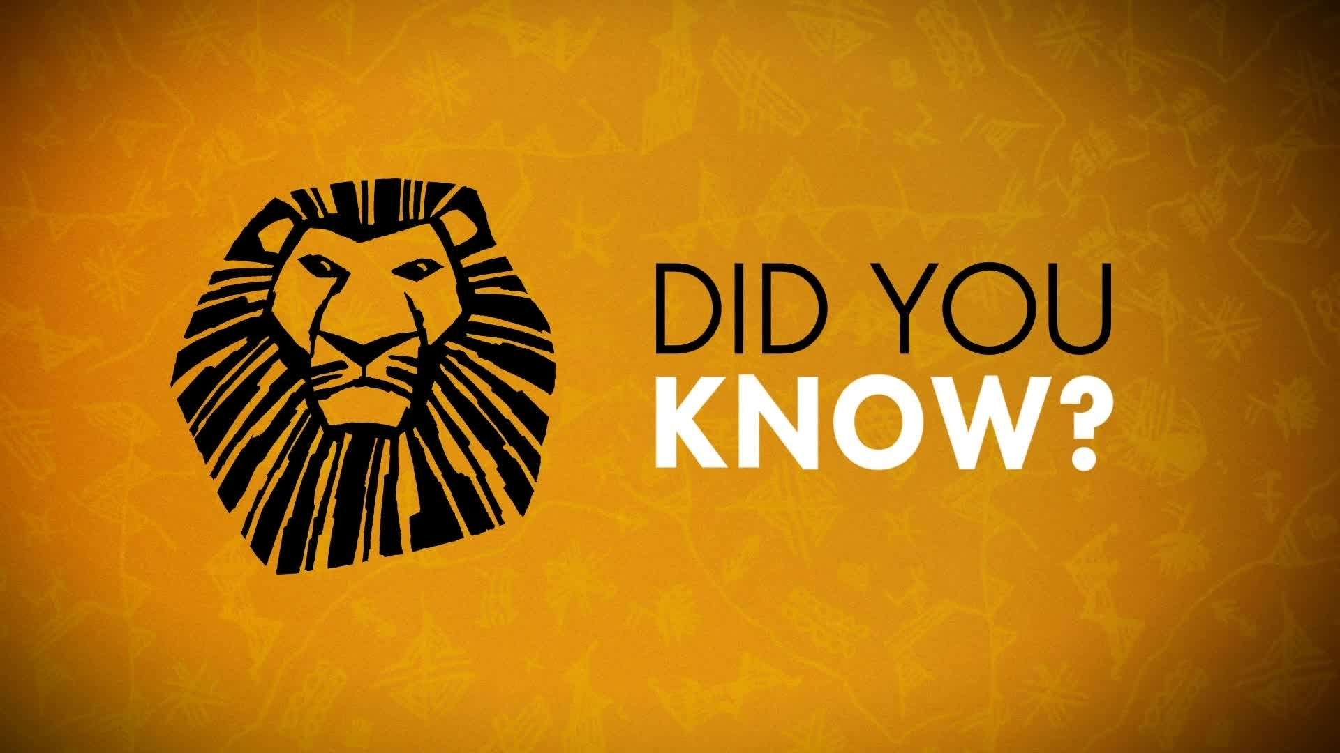 Did You Know? - The Lion King