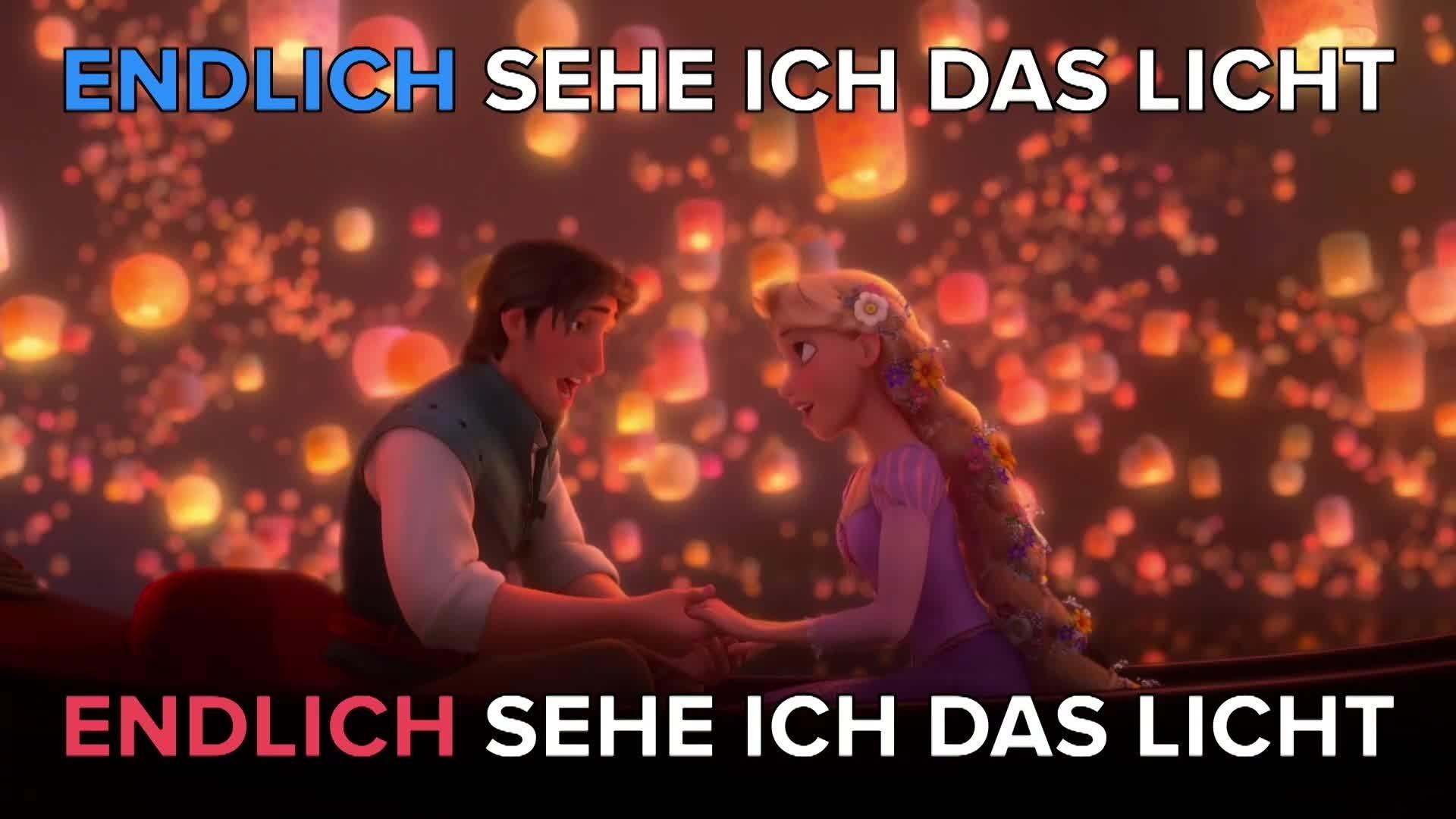 Rapunzel 'Endlich sehe ich das Licht' Karaoke
