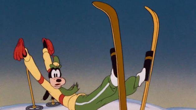 Mickey trop drôle - L'art du ski
