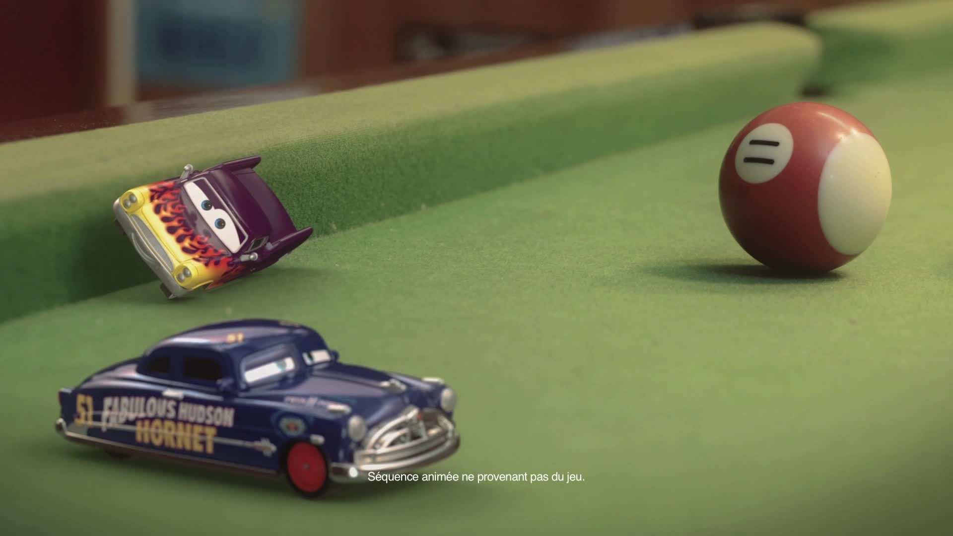 Cars Daredevil Garage - Envahit... La table de billard !