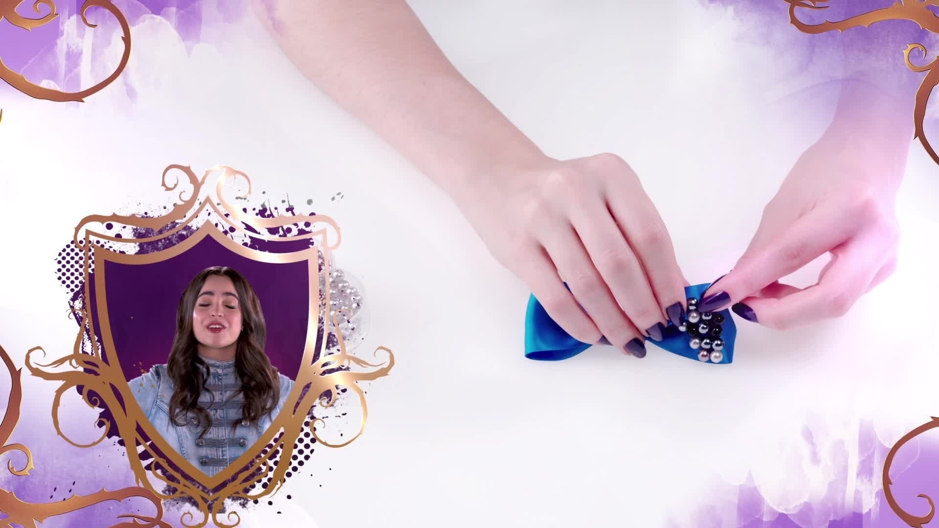 Tuto Descendants par Sofia Carson - Le Noeud Pour Les Cheveux