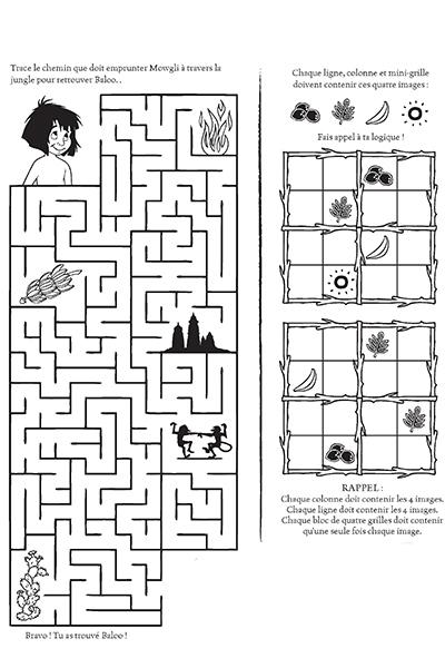 les jeux de la jungle avec mowgli disney coloriages fr. Black Bedroom Furniture Sets. Home Design Ideas