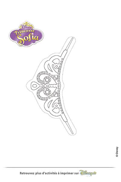 Coloriage la couronne de princesse sofia disney - Coloriage princesse sophia ...