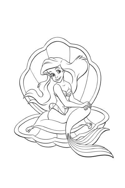 Coloriages Ariel | Disney Coloriages FR