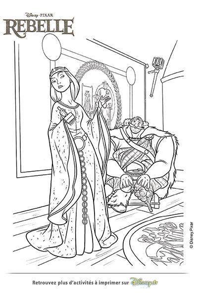Coloriage La reine Elinor