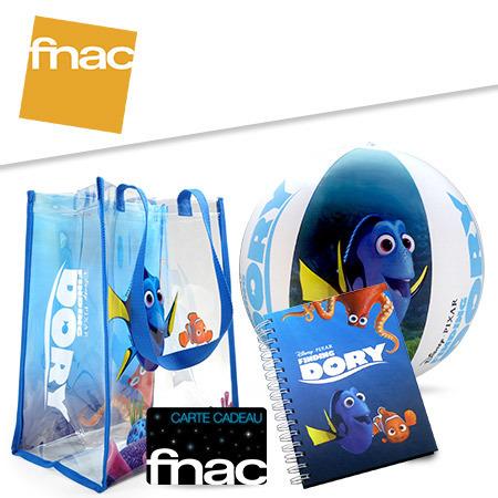 Des cartes cadeaux Fnac, des kits de plages Le Monde de Dory et plein d'autres cadeaux à gagner !