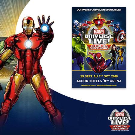 Tentez de gagner 4 places pour le spectacle époustouflant Marvel Universe Live !