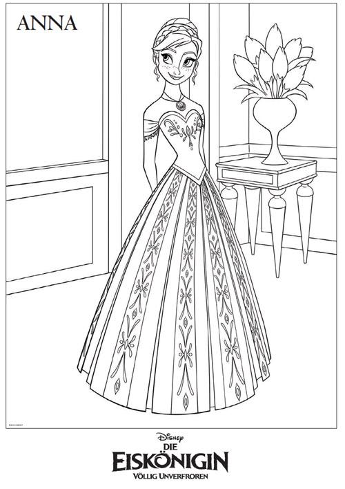 Die Eiskönigin - Malvorlage Anna