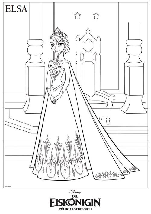 Die Eiskönigin - Malvorlage Elsa