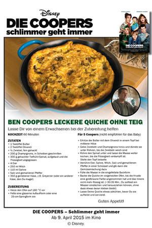 Die Coopers - Quiche Rezept