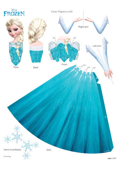 Elsa Papercraft | Frozen UK