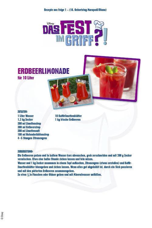 Das Fest im Griff - Erdbeerlimonade