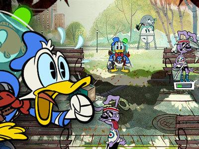 Donald Duck im Durstlösch-Wahn