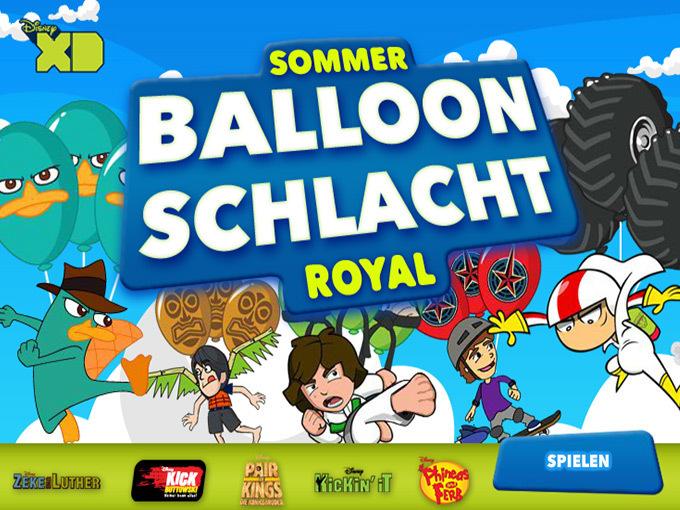Sommer Ballon Schlacht Royal