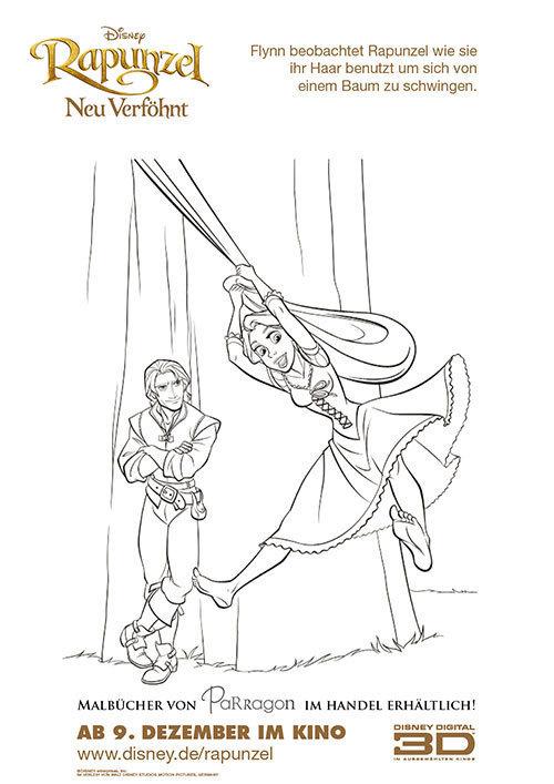 Malvorlage Rapunzel und Flynn