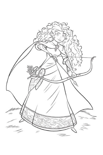 Coloriage merida et angus disney coloriages fr - Disney princesse coloriage ...