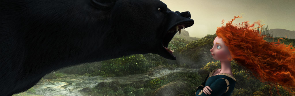 Brave Animated Hero - Merida and Bear