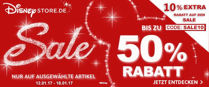 10% EXTRA RABATT auf den Sale im Disney Store