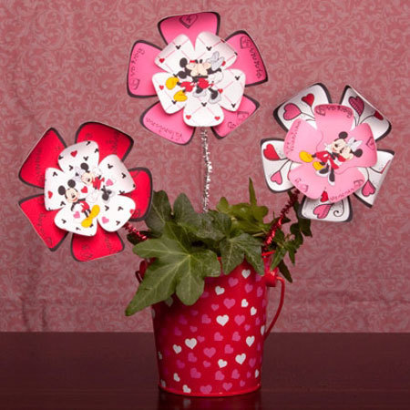Mickey and Minnie Paper Flowers