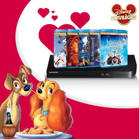 Pour la Saint Valentin, tentez de gagner une collection de films romantiques + un lecteur Blu-ray !