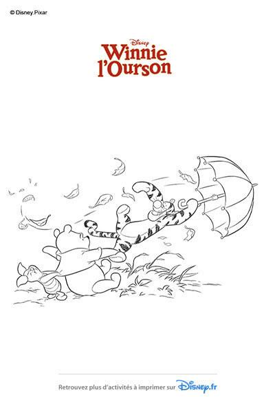 Coloriage  Tigrou emporté par le vent